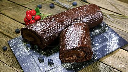 Rulada cu ciocolata(Buche de Noel) - Reteta VIDEO