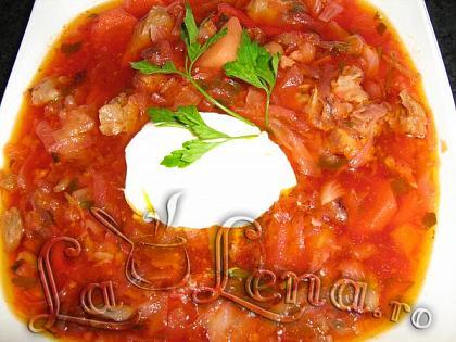 Ciorba cu legume si sfecla rosie (ucraineasca)