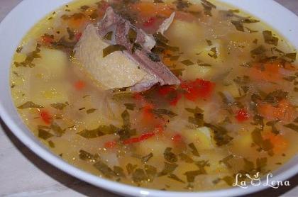 Ciorba de pui cu orez si legume
