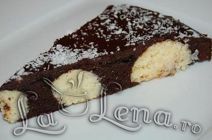 Prajitura cu ciocolata si bilute de cocos