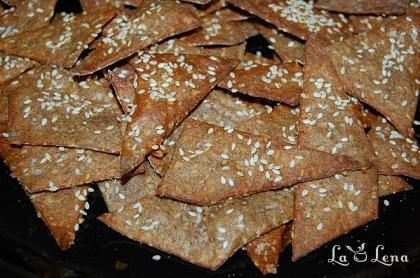 Saratele (Crackers) din seminte si faina de secara