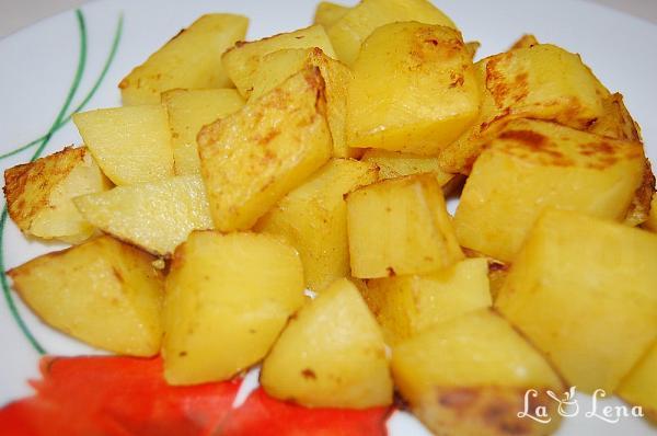 Cartofi cu mustar, la cuptor