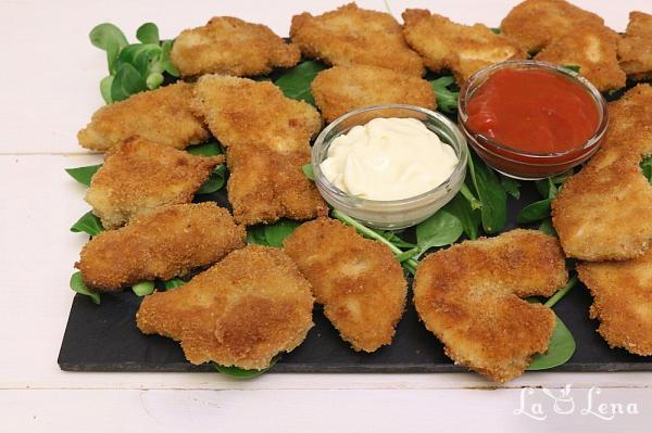 Chicken Nuggets, la cuptor sau tigaie