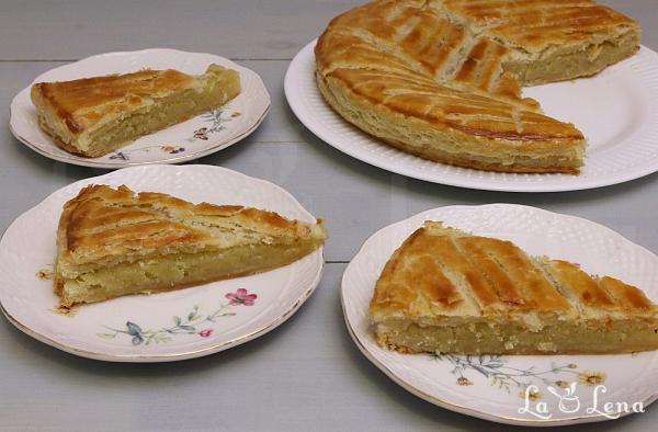 Galette des Rois - prajitura din foietaj cu crema de migdale