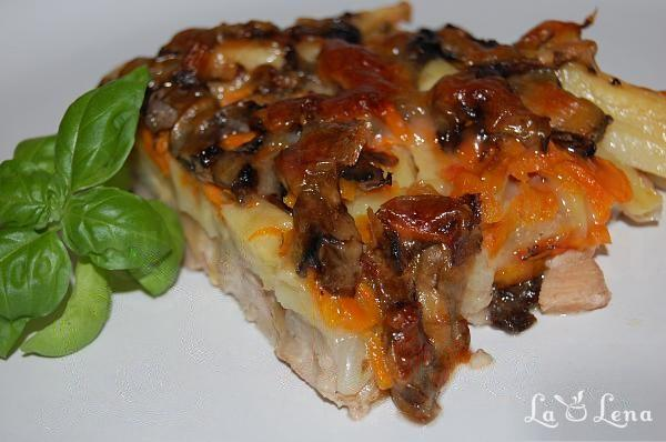 Musaca cu carne si legume - varianta rapida