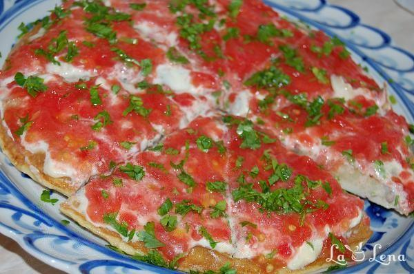 """Pizza"" de vinete"