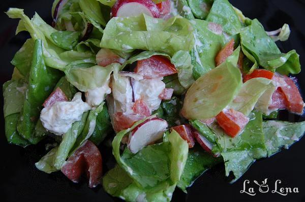 Salata cu ridiche, rosii si branza feta